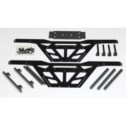 """CNC Machined Aluminum Low CG """"Izilla"""" Monster Truck Racing Chassis for Axial Wraith (BK-GM)"""