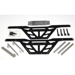 "CNC Machined Aluminum Low CG ""Izilla"" Monster Truck Racing Chassis for Axial Wraith (BK-S)"