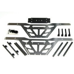 """CNC Machined Aluminum Low CG """"Izilla"""" Monster Truck Racing Chassis for Axial Wraith (S-GM)"""
