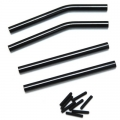 STRC CNC Machined Alum. Upper & Lower Suspension Links for Axial Wraith (Black)