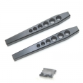 STRC CNC Machined Aluminum HD Lower Suspension Links for Axial Wraith (1 pair) Black