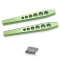 STRC CNC Machined Aluminum HD Lower Suspension Links for Axial Wraith (1 pair) Green