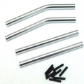 STRC CNC Machined Alum. Upper & Lower Suspension Links for Axial Wraith (Silver)