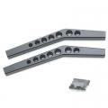 STRC CNC Machined Aluminum HD Upper Suspension Links for Axial Wraith (1 pair) Black