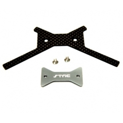 STRC Aluminum/Graphite Battery Brace (Gun Metal) for Axial Yeti