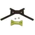 STRC Aluminum/Graphite Battery Brace (Green) for Axial Yeti