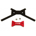 STRC Aluminum/Graphite Battery Brace for Axial Yeti (Red, web only limited edition)