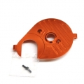 CNC Machined Aluminum Heatsink Motor Plate (Orange) for Axial Yeti