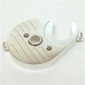 CNC Machined Aluminum Heatsink Motor Plate (Silver) for Axial Yeti