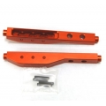 CNC Machined Aluminum Rear Lower Suspension Links (1 pair) for Yeti, Orange (limited)
