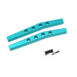 CNC Machined Aluminum Rear Upper Suspension Links (1 pair) for Yeti, Blue