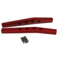 CNC Machined Aluminum Rear Upper Suspension Links (1 pair) for Yeti, Red (web only limited edition)
