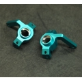 CNC Machined Alum. Front Steering Knuckles for Yeti, EXO buggy (Blue)