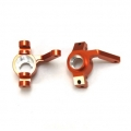 CNC Machined Alum. Front Steering Knuckles for Yeti, EXO buggy (Orange)