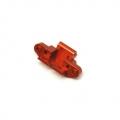 CNC Machined Aluminum Front Skid Plate/Hinge-pin mount for Yeti (Orange)