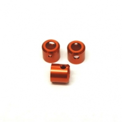 CNC Machined Aluminum Driveshaft Cups (3 pcs), Yeti (Orange)