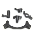 CNC Machined Aluminum Steering Bellcrank set (5 pcs) Yeti, Black