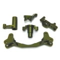 CNC Machined Aluminum Steering Bellcrank set (5 pcs) Yeti, Green