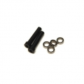 CNC Machined Aluminum Steering Posts upgrade (2pcs) and bearings (4 pcs) Yeti (Black)