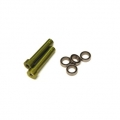CNC Machined Aluminum Steering Posts upgrade (2pcs) and bearings (4 pcs) Yeti (Green)