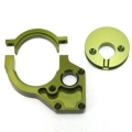 CNC Machined Aluminum Center Motor Mount and Motor Cam combo for Yeti (Green)