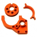 CNC Machined Aluminum Center Motor Mount and Motor Cam combo for Yeti (Orange)