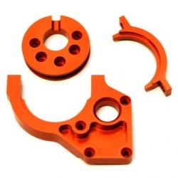 CNC Machined Aluminum Center Motor Mount and Motor Cam combo for Yeti (Orange)