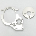 CNC Machined Aluminum Center Motor Mount and Motor Cam combo for Yeti (Silver)
