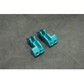 CNC Machined Aluminum Rear 4-link Mount (1 pair) for Yeti.  (Blue)