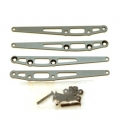 CNC Machined Alum. Lower Suspension Link Reinforcement plate (4 pcs w/hardware) GM