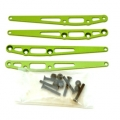 CNC Machined Alum. Lower Suspension Link Reinforcement plate (4 pcs w/hardware) Green