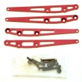 CNC Machined Alum. Lower Suspension Link Reinforcement plate (4 pcs w/hardware) Red