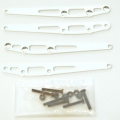 CNC Machined Alum. Lower Suspension Link Reinforcement plate (4 pcs w/hardware) Silver