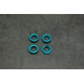 CNC Machined Aluminum Shock Collar (w/O-rings) 4 pcs for Wraith, Yeti, EXO (Blue)