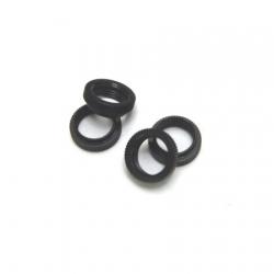 CNC Machined Aluminum Shock Collar (w/O-rings) 4 pcs for Wraith, Yeti, EXO (Black)
