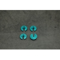 CNC Machined Aluminum Lower Shock Spring Retainers (4 pcs) Wraith, Yeti, EXO (Blue)