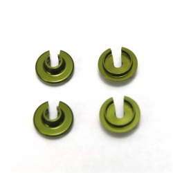 CNC Machined Aluminum Lower Shock Spring Retainers (4 pcs) Wraith, Yeti, EXO (Green)
