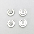 CNC Machined Aluminum Lower Shock Spring Retainers (4 pcs) Wraith, Yeti, EXO (Silver)