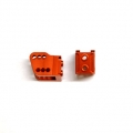 CNC Machined Alum. HD Bottom Shock Mounts (1 pair) for Axial Wraith (Orange)