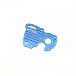 STRC CNC Machined Aluminum Motor Heat Sink Plate (blue)