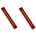 CNC Machined Aluminum M4 threaded 7.5x101.5mm Links (4pcs) Red