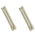 CNC Machined Aluminum M4 threaded 7.5x80mm Links (4 pcs) Silver