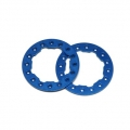"CNC Machined Aluminum Beadlock Rings for Proline Faultline/Denali 2.2"" wheels (1 pair) Blue"
