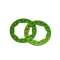 "CNC Machined Aluminum Beadlock Rings for Proline Faultline/Denali 2.2"" wheels (1 pair) Green"